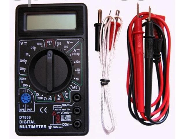 Мультиметр -Вольтметр -Тестер -звуковая прозвонка и термопара